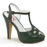 Vihreä 11,5 cm retro vintage BETTIE-23 Korkeat Juhlasandaalit