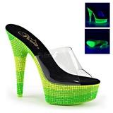 Vihreä 15 cm DELIGHT-601UVS neon platform puukengät naisten