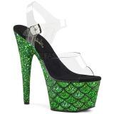Vihreä 18 cm ADORE-708MSLG kimallus platform sandaalit naisten