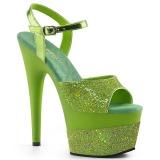Vihreä 18 cm ADORE-709-2G kimallus platform sandaalit naisten
