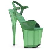 Vihreä 18 cm FLAMINGO-809T Akryyli platform korkokengät naisten