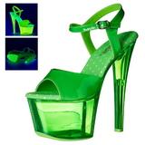 Vihreä 18 cm SKY-309UVT Neon Platform Korkeakorkoiset Sandaalit