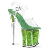 Vihreä 20 cm FLAMINGO-808GF kimallus platform korkokengät naisten
