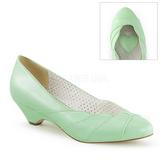 Vihreä 4 cm retro vintage LULU-05 Pinup avokkaat kengät alhainen korot