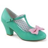 Vihreä 6,5 cm WIGGLE-50 Pinup avokkaat kengät paksu korko