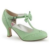 Vihreä 7,5 cm FLAPPER-11 Pinup avokkaat kengät alhainen korot