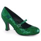 Vihreä 7,5 cm MERMAID-70 avokkaat kengät alhainen korot