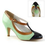 Vihreä 8 cm PEACH-03 Pinup avokkaat kengät alhainen korot