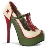 Vihreä Beige 14,5 cm Burlesque TEEZE-43 naisten kengät korkeat korko