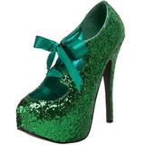 Vihreä Kimalle 14,5 cm Burlesque TEEZE-10G Platform Avokkaat Kengät