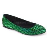 Vihreä MERMAID-21 ballerinat matalat kengät
