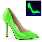 Vihreä Neon 13 cm AMUSE-20 teräväkärkiset ja piikkikorkoiset avokkaat
