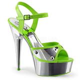 Vihreä Neon 15 cm DELIGHT-609NC Sandaalit Kromi Platform