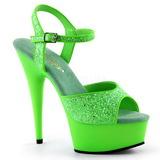 Vihreä Neon 15 cm Pleaser DELIGHT-609UVG Platform Sandaletit
