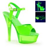 Vihreä Neon 15 cm Pleaser KISS-209UVT Platform Sandaletit