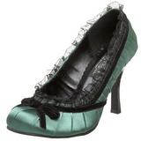 Vihreä Satiini 9 cm DAINTY-420 klassiset avokkaat kengät naisten