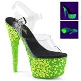 Vihreä neon 18 cm Pleaser ADORE-708NSK tankotanssi kengät