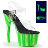 Vihreä neon 18 cm Pleaser ADORE-708UVP tankotanssi kengät