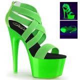 Vihreä neon 18 cm Pleaser ADORE-769UV tankotanssi kengät