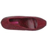 Viininpunainen Kristalli 14,5 cm Burlesque TEEZE-06R Platform Avokkaat Kengät