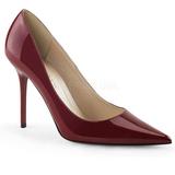 Viininpunainen Lak 10 cm CLASSIQUE-20 suuret koot stilettos kengät