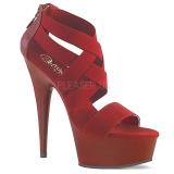 Viininpunainen joustava nauha 15 cm DELIGHT-669 korokepohjaiset pleaser kengät