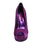 Violetti Satiini 13,5 cm BELLA-12R Kristalli Platform Avokkaat Kengät