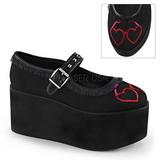 sydän kangas 8 cm CLICK-02-1 lolita kengät gootti platform